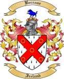 Berrane Family Crest from Ireland