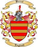 Berret Family Crest from England2