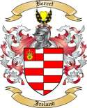 Berret Family Crest from Ireland