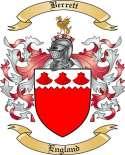 Berrett Family Crest from England