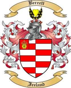 Berrett Family Crest from Ireland by The Tree Maker