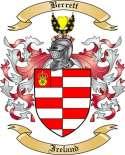 Berrett Family Crest from Ireland