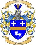Berri Family Crest from France