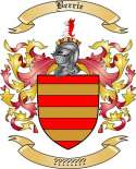 Berrie Family Crest from England