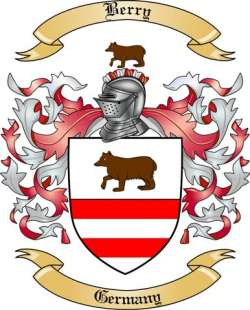Berry Family Coat of Arms from Germany