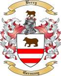 Berry Family Crest from Germany