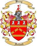 Berry Family Crest from Ireland