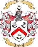 Berte Family Crest from England2