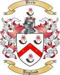 Berte Family Crest from England