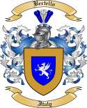 Bertello Family Crest from Italy