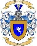 Bertello Family Crest from Italy