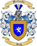 Bertinetto Family Crest from Italy