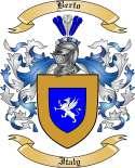 Berto Family Crest from Italy