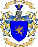 Bertrand Family Crest from France