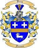 Bery Family Crest from France