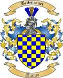 Bettencourt Family Crest from France