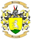 Betzold Family Crest from Germany