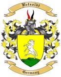Betzoldt Family Crest from Germany