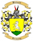 Betzolt Family Crest from Germany