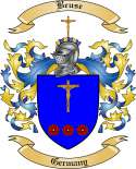 Beuse Family Crest from Germany