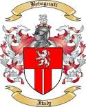 Bevegnuti Family Crest from Italy