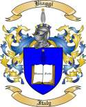 Biaggi Family Crest from Italy