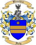 Bianchini Family Crest from Italy