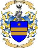 Biangoni Family Crest from Italy