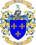 Bichend Family Crest from England