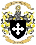 Bickerstathe Family Crest from England