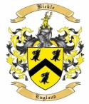 Bickle Family Crest from England