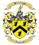 Bickleigh Family Crest from England