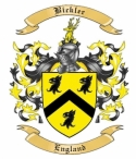 Bickler Family Crest from England