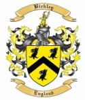 Bickley Family Crest from England