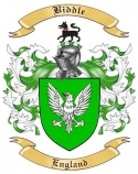 Biddle Family Crest from Enlgand