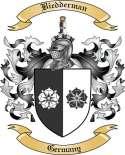 Biedderman Family Crest from Germany