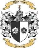Biedermann Family Crest from Germany