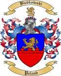 Biedkowski Family Crest from Poland