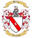 Bierly Family Crest from Germany