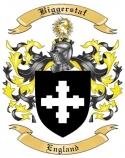 Biggerstaf Family Crest from England