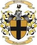 Bijlander Family Crest from Netherlands