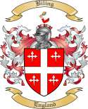 Biling Family Crest from England