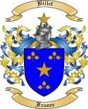 Billet Family Crest from France