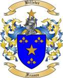 Billeter Family Crest from France