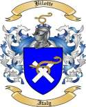 Bilotte Family Crest from Italy