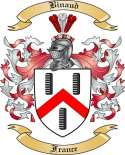 Binaud Family Crest from France