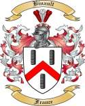 Binault Family Crest from France