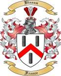 Bineau Family Crest from France