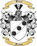 Binet Family Crest from France2