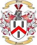 Binet Family Crest from France